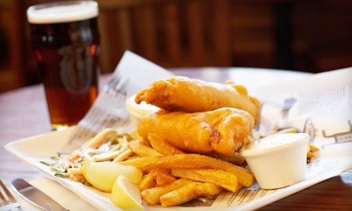 The Ice House Pub - Punta Gorda: Traditional English Pub Meal for Two or Four at The Ice House Pub (Up to 52% Off)