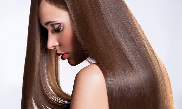 RetroChic Salon - Uptown: Haircut and Keratin Express Treatment with Option of Single-Process Color at RetroChic Salon (Up to 57% Off)
