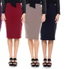 Women's Solid Colored Pencil Skirts