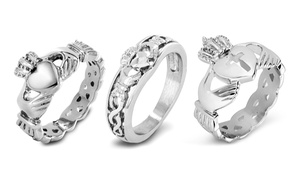 Claddagh Ring In Stainless Steel Or Sterling Silver