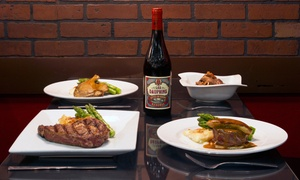 Bistro 1902: Upscale French Dinner for Two or Four with Wine at Bistro 1902 (Up to 41% Off)