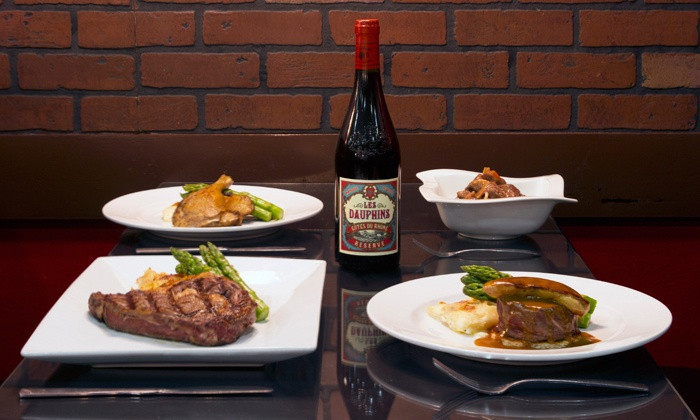 Bistro 1902 - Downtown Hollywood: $32 for an Upscale French Dinner for Two with Wine at Bistro 1902 ($67.80 Value)