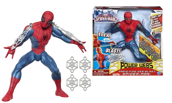 Spider-Man Rapid-Fire Web-Blast Action Figure: Marvel Ultimate Spider-Man Rapid-Fire Web-Blast Action Figure. Free Returns.