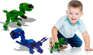 Dinosaures en briques à construire