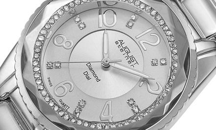 Montre pour femmes August Steiner avec diamants, coloris au choix, à 39,99€