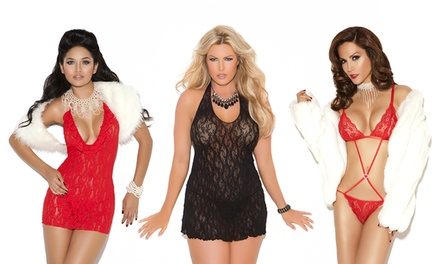 Elegant Moments Lace Lingerie Collection. Regular and Plus Sizes