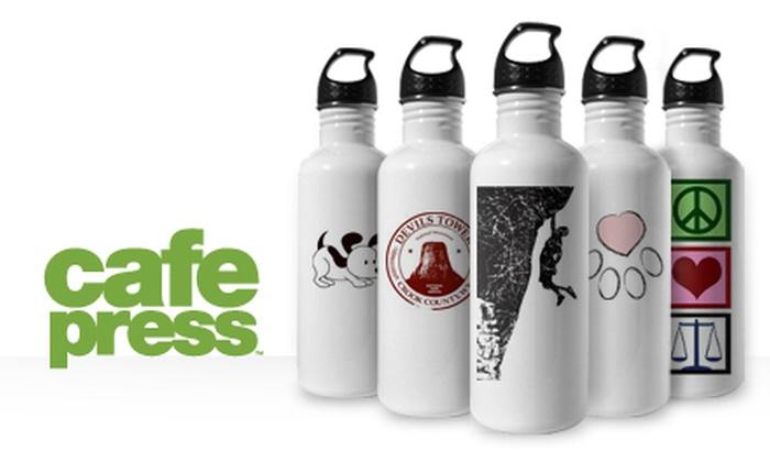 CafePress: $9 for $19 Toward Custom Stainless-Steel Water Bottle from CafePress