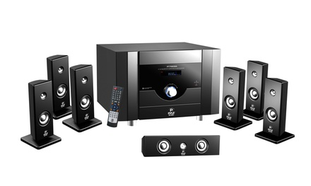 Pyle 7.1-Channel Home-Theater System with Satellite Speakers, Center Channel Speaker, Subwoofer, and Bluetooth