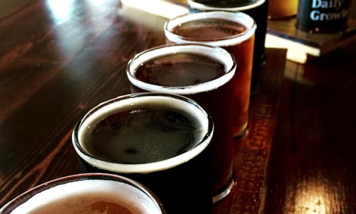 The Daily Growler - Upper Arlington: Beer-Tasting Package with Unfilled Growler for Two or Four at The Daily Growler (Up to 50% Off)