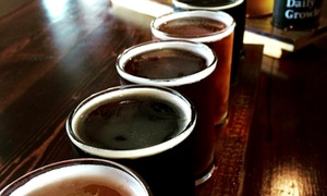 The Daily Growler: Beer-Tasting Package with Unfilled Growler for Two or Four at The Daily Growler (Up to 34% Off)