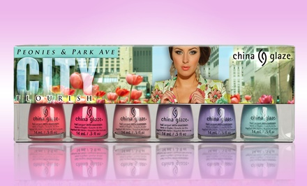 China Glaze 6-Piece Avant Garden or City Flourish Nail Lacquer Collection