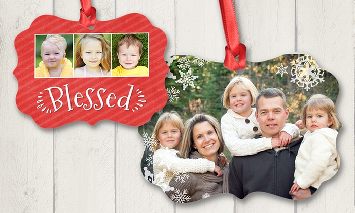 York Photo: One, Two, or Three Custom Square Coated-Aluminum Ornaments from York Photo (67% Off)