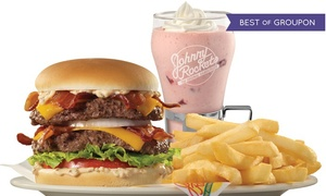 Johnny Rockets: Burgers, Melts, and Shakes for Two or Four at Johnny Rockets (Up to 50% Off)