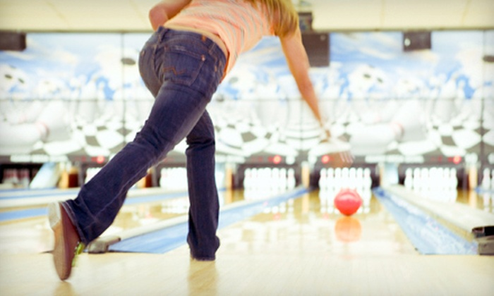 Royal Lanes - Goose Creek: Three Bowling Games, Shoes, Pizza, and Soda for Two or Four at Royal Lanes in Goose Creek (Up to 53% Off)