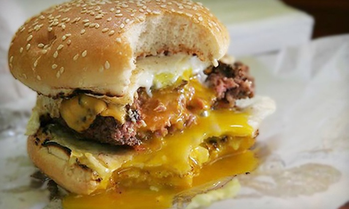 BIG & little's - Near North Side: $15 for Two Hamburgers, Fries, and Fountain Sodas at Big & little's (Up to a $29 Value)