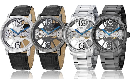 Stührling Original Men's Elegant Skeleton Watches