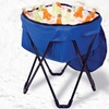 Collapsible Drinks Cooler with Stand and Carrying Case