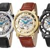 Stührling Original Men's Classic Leather Watch