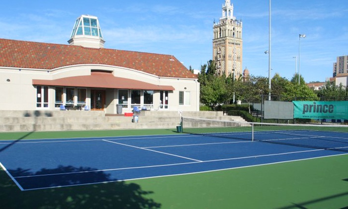 Plaza Tennis Center - Country Club: One-Season Membership and Lesson for One, Couple, or Family of Four People at The Plaza Tennis Center