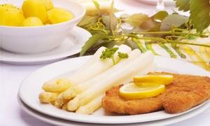 Ti Amo: 3-Gänge-Spargel-Menü inkl. Schnitzel und Dessert für zwei oder vier Personen bei Ti Amo (bis zu 58% sparen*)