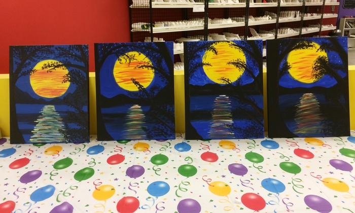 The Painted Penguin - Aurora: All-Ages Canvas Painting Classes at The Painted Penguin (Up to 37% Off). Four Options Available.