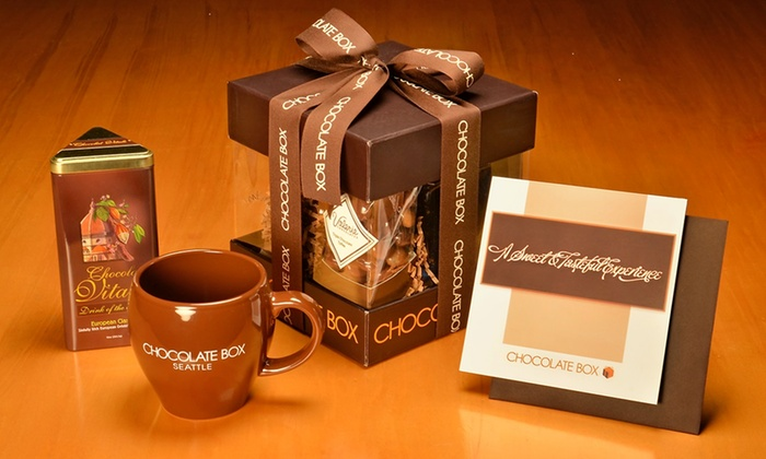 The Chocolate Box - Downtown: Kakaw or Chokola'j Gift Boxes from The Chocolate Box (Up to 55% Off)