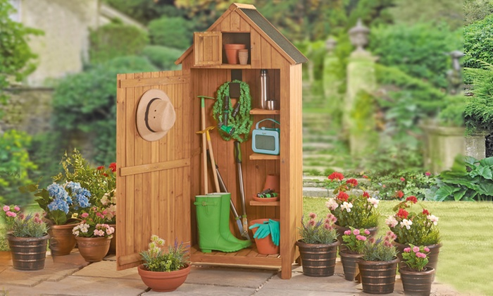 Groupon Goods Global GmbH: Beach Hut Or Sentry Garden Storage Shed In  Choice Of Colour ...