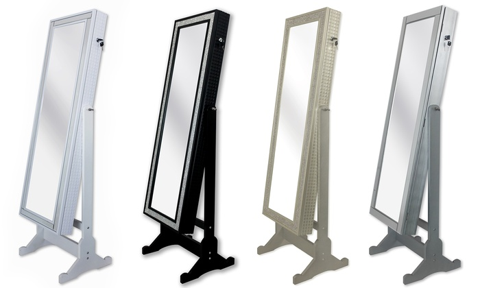 iconic home full length mirror jewelry armoire glam and glitzy full length cheval mirror jewelry
