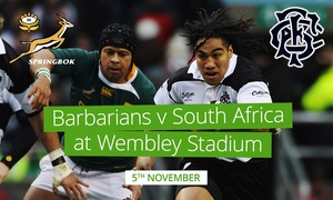 Barbarians Rugby: Barbarians v South Africa: Child (£23), Adult (from £35) or Family (from £99) at Wembley Stadium (Up to 36% Off*)