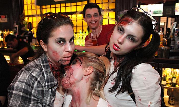 Zombies vs. Vampires Pub Crawl - Halloween Hallway: Zombies vs. Vampires Halloween Pub Crawl for 1, 2, or 4 on Saturday, October 24, at 2 p.m. (Up to 68% Off)