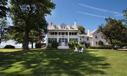 groupon daily deal - 1- or 2-Night Stay for Two at Wades Point Inn on the Bay in St. Michaels, MD
