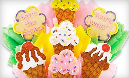 7-Cookie Bouquet Gift Basket (a $58 value) - Cookies by Design  in Bellevue