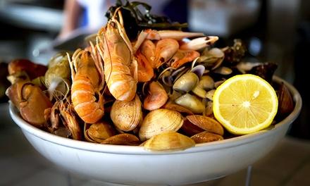 Fino a 3 kg di fritto misto di pesce e vino