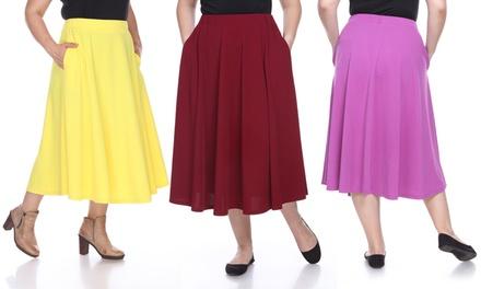 Women's Plus Sized Tasmin Flare Midi Skirt