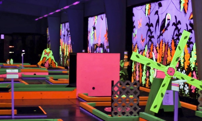 Glowgolf  - Town Center at Aurora: Three Rounds of Mini Golf for Two, Four or Six at Glowgolf (Up to 56% Off)