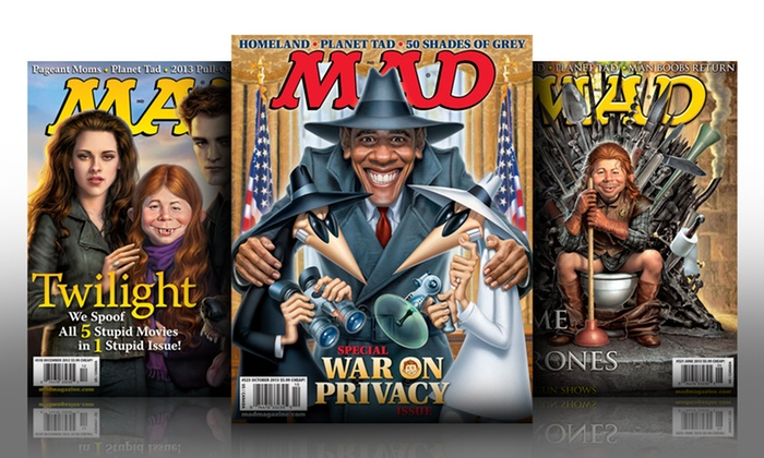 1-Year, 6-Issue Subscription to MAD Magazine: 1-Year, 6-Issue Subscription to MAD Magazine. Free Shipping.