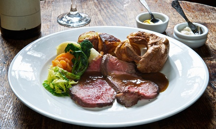 Sunday Roast with AllYouCanEat Vegetables for Two or Four