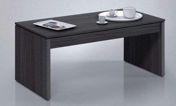 table basse avec plateau relevable groupon. Black Bedroom Furniture Sets. Home Design Ideas