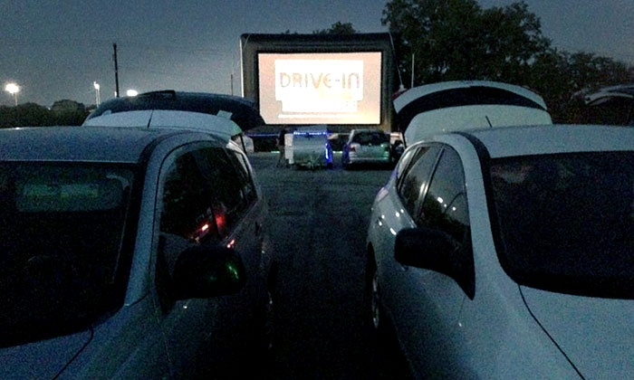 Blue Starlite Mini Urban Drive-In - RMMA: Outdoor Movie and Popcorn for Two or Double Feature for Two or Four at Blue Starlite Mini Urban Drive-In (Up to 58% Off)