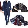 Braveman 2-Piece Slim-Fit Suit with Tie and Dress Socks
