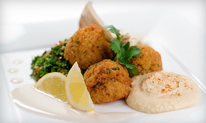 Cafe Annie - Central Business District: Lebanese and Greek Food for Dinner at Cafe Annie (Half Off). Two Options Available.
