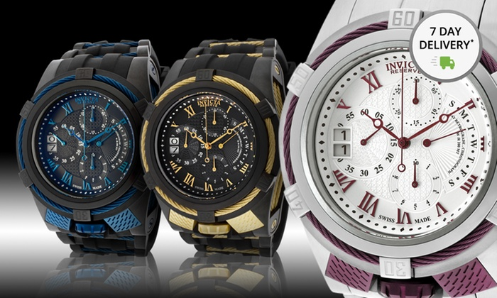 Invicta Swiss-Made Bolt Reserve Watch: Invicta Swiss-Made Bolt Reserve Watch. Multiple Styles Available. Free Returns.