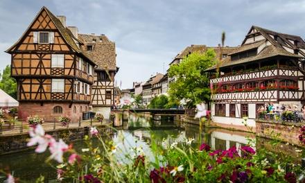 Straatsburg: klassieke tweepersoonskamer met ontbijtbuffet en naar keuze 1/2 fles wijn in Hotel des Princes voor 2 pers.