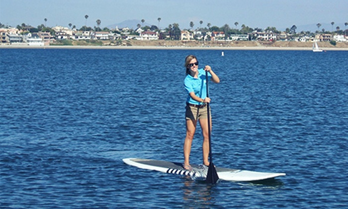 Resort Watersports - Bahia Hotel: Standup Paddleboarding Lesson Package for One or Two at Resort Watersports (Up to 51% Off)