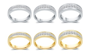 1/4–1 CTTW Diamond Princess Channel Wedding Band in 10K Gold
