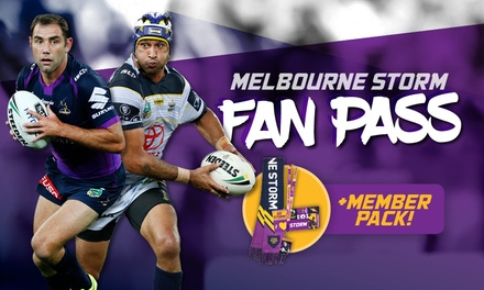 Melbourne Storm Fan Pass Membership Package + Game Access Up to $120 Value