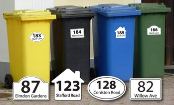 Personalised Wheelie Bin Stickers