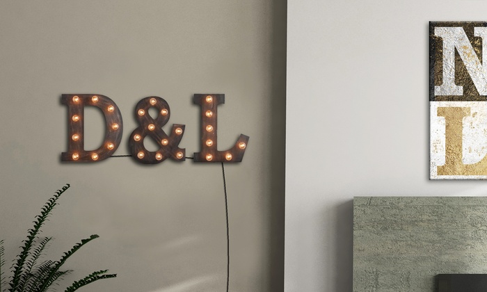 Light Up Wall Art light-up marquee letter wall art | groupon goods