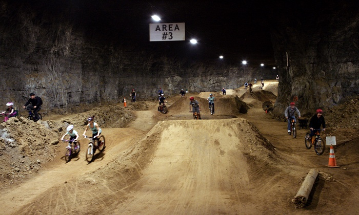 Louisville Mega Cavern - Poplar Level: Underground Bike Park Admission for Two or Four at Louisville Mega Cavern