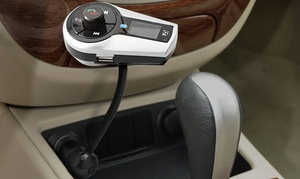 Aduro Stereo Bluetooth Fm Transmitter Car Kit With Remote